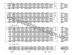Фото2 Duplex roller chain ISO 16A-2