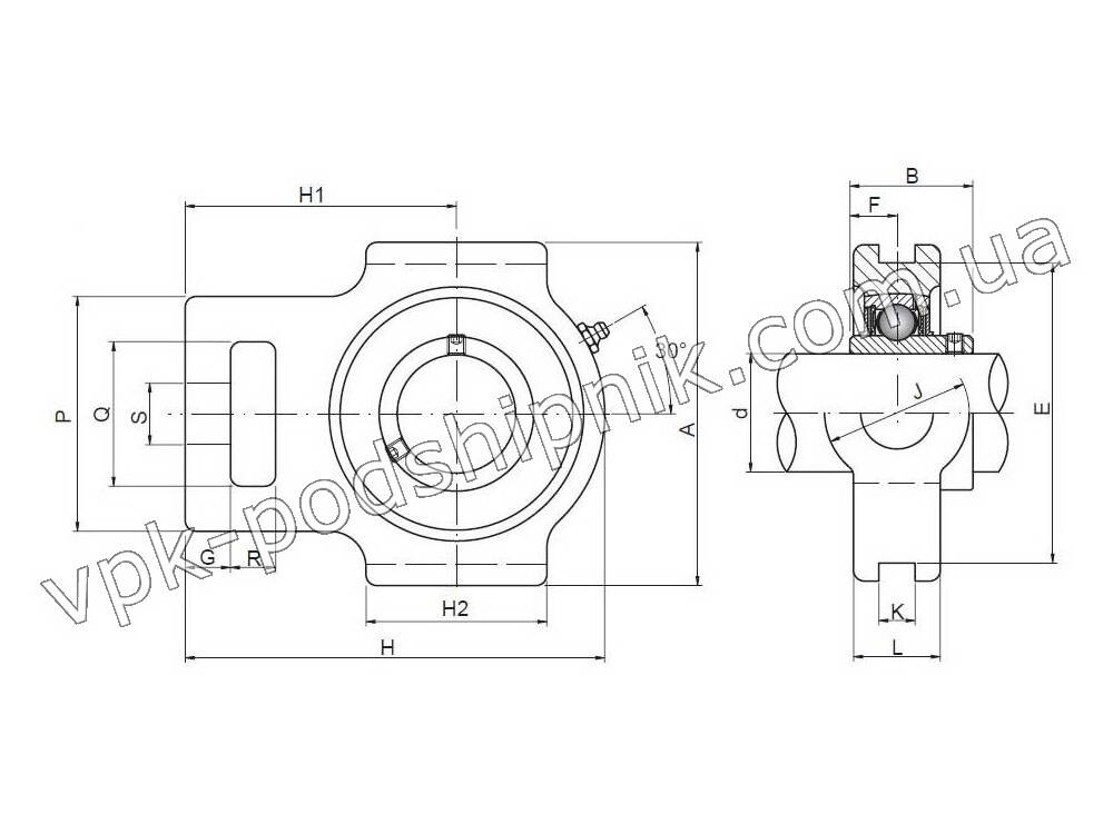 Фото2 Radial insert ball bearing UCT 206 CX